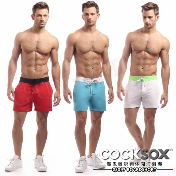 【 CSX97 】 澳洲 COCKSOX Retro Boardshort 綁繩休閒海灘褲